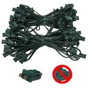 "119' C7 Commercial Light Stringer, SPT1 Green Wire, 12"" Spacing"