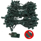 "150' C7 Commercial Light Stringer, SPT2 Green Wire, 12"" Spacing"