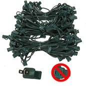 "C7 E12 Light Stringer, 150' Length, 12"" Spacing, SPT2 10 Amp Green Wire, Commercial Grade"