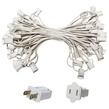 "50' C7 Commercial Light Stringer, SPT1 White Wire, 18"" Spacing"