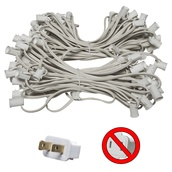 "100' C7 Commercial Light Stringer, SPT1 White Wire, 12"" Spacing"