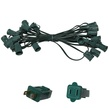 "25' C9 Commercial Light Stringer, SPT1 Green Wire, 12"" Spacing"