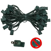 "50' C9 Commercial Light Stringer, SPT2 Green Wire, 12"" Spacing"