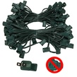 "100' C9 Commercial Light Stringer, SPT1 Green Wire, 12"" Spacing"