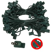 "C9 E17 Light Stringer, 100' Length, 12"" Spacing, SPT1 7 Amp Green Wire, Commercial Grade"