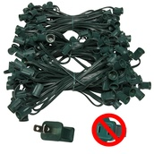 "150' C9 Commercial Light Stringer, SPT2 Green Wire, 12"" Spacing"