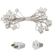 "25' C9 Commercial Light Stringer, SPT1 White Wire, 18"" Spacing"