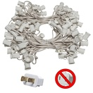 "100' C9 Commercial Light Stringer, SPT2 White Wire, 12"" Spacing"