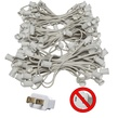 "150' C9 Commercial Light Stringer, SPT2 White Wire, 12"" Spacing"