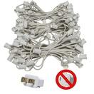 """150' C9 Commercial Light Stringer, SPT2 White Wire, 12"""" Spacing"""