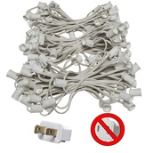 "C9 E17 Light Stringer, 150' Length, 12"" Spacing, SPT2 10 Amp White Wire, Commercial Grade"
