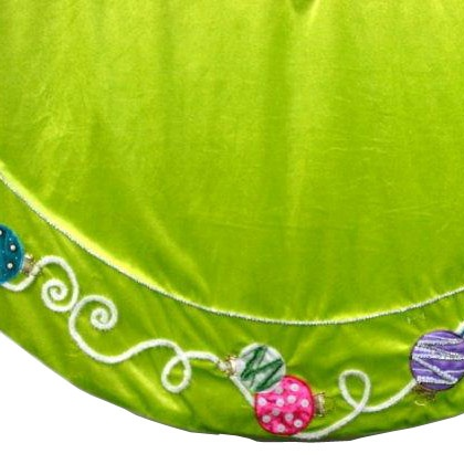 "56"" Lime Green Christmas Tree Skirt"