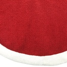 "56"" Red Fleece Tree Skirt with White Border"