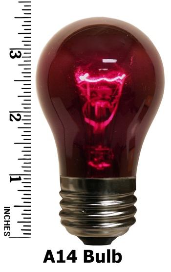 A15 Transparent Purple, 15 Watt Replacement Bulbs