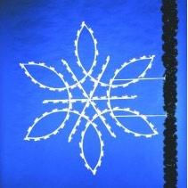 6' Snowflake Pole Silhouette