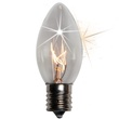 C9 Twinkle Clear Christmas Light Bulbs, 10 Watt