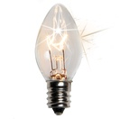 C7 Twinkle Clear Christmas Light Bulbs, 7 Watt