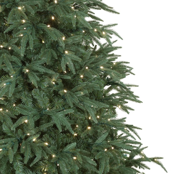 6.5' Full Pre-Lit Blue Aspen Fir Tree, 550 Clear Lights