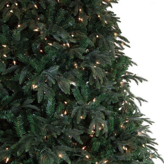 6.5' Full Carolina Fir Tree, 700 Clear Lamps