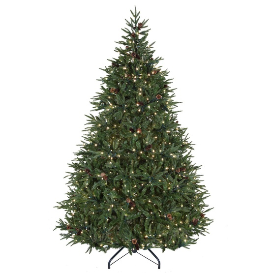 7.5' Full Pre-Lit Colorado Pine Tree, 800 Warm White LED Lights