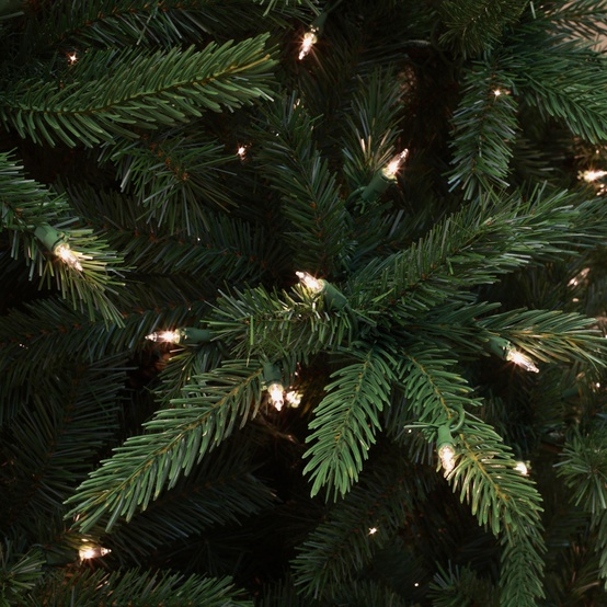 9.5' Pre-Lit Balsam Fir LED Tree, 1100 Warm White LED Lights