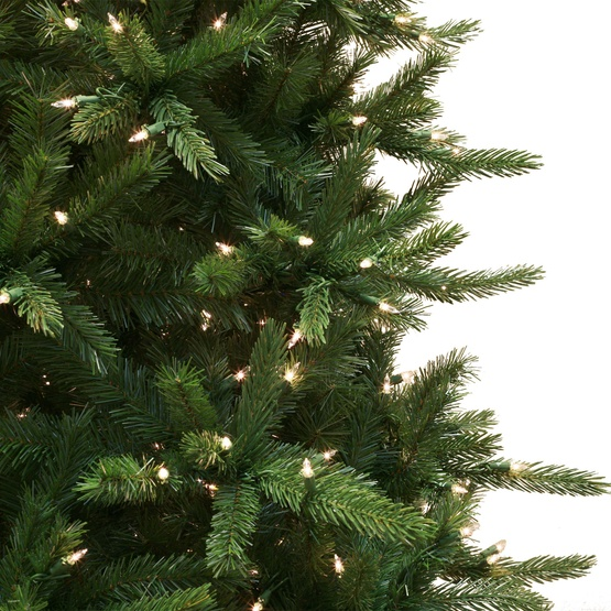 7.5' Pre-Lit Balsam Fir Tree, 750 Clear Lights