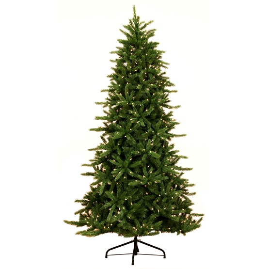 6.5' Pre-Lit Balsam Fir LED Tree, 550 Warm White LED Lights