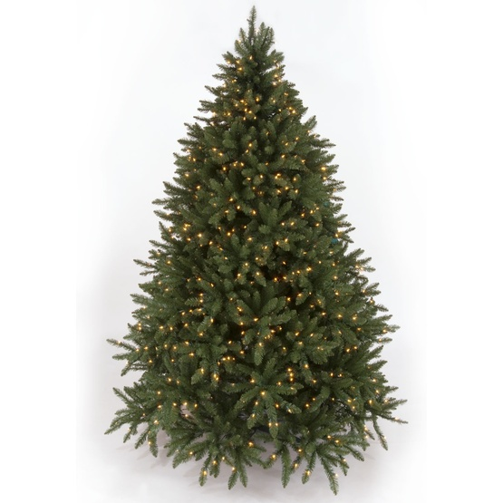 8.5' Full Douglas Fir Tree, 1200 Multicolored Lamps