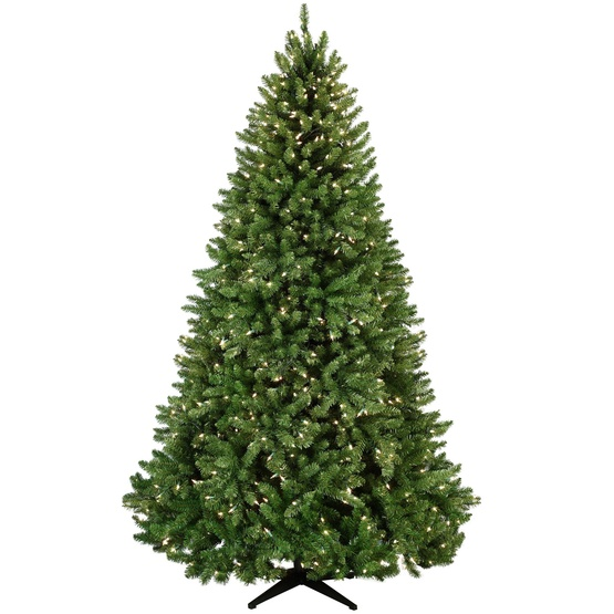 9.5' Medium Pre-Lit Tiffany Tree, 1600 Clear Lamps