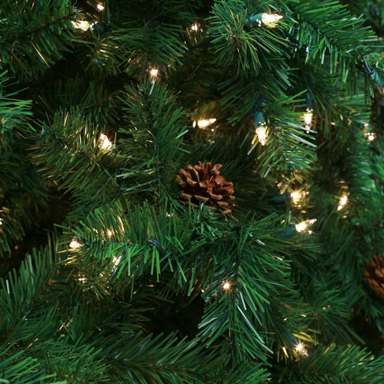 9.5' Slender Pre-Lit Winchester Fir Tree, 1100 Clear Lamps