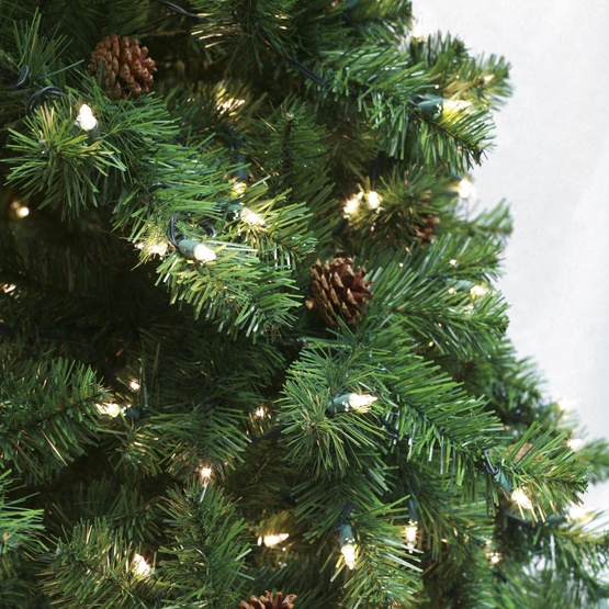 7.5' Full Pre-Lit Winchester Fir Tree, 1250 Clear Lamps