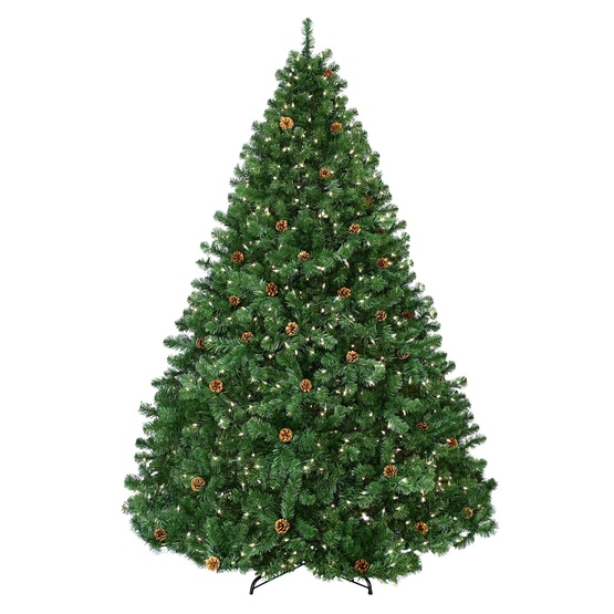 8.5' Full Pre-Lit Winchester Fir Tree, 1700 Clear Lamps