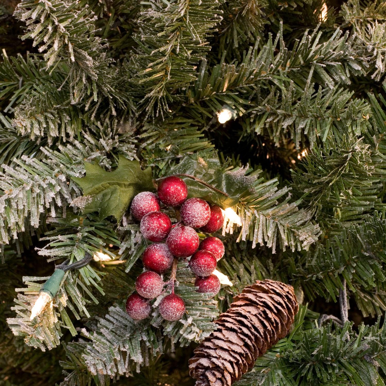 Flocked Hawthorne Prelit Tree - Christmas Lights, Etc