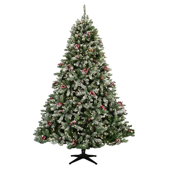 6.5' Full Pre-Lit Hawthorne Fir Tree, 500 Clear Lamps