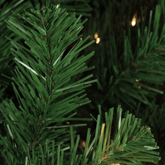 9.5' Full Pre-Lit Sequoia Fir Tree, 2200 Clear Lamps