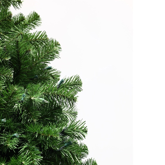 14' Full Pre-Lit Sequoia Fir Tree, 3700 Clear Lamps / Rolling Stand