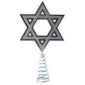 "6"" Silver Hanukkah Tree Topper"