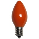 C7 Orange Christmas Light Bulbs, Opaque