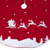 "56"" Santas Sleigh Tree Skirt"