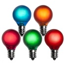 G30 Satin Multicolor, 5 Watt Replacement Bulbs
