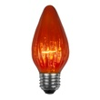 F15 Flame Triple Dipped Transparent Amber / Orange, 40 Watt Replacement Bulbs