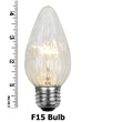 F15 Flame Transparent Clear, 40 Watt Replacement Bulbs