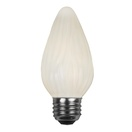 F15 Flame Opaque White, 40 Watt Replacement Bulbs