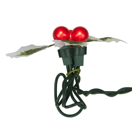 36-Count Christmas Holly Berries Light Set