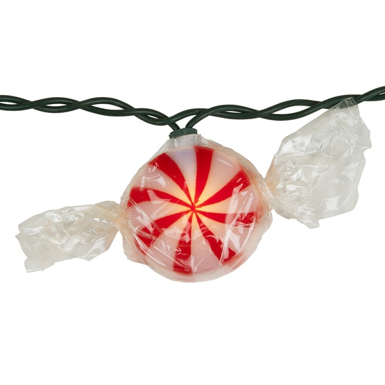 10 Red Peppermint Candy Light String