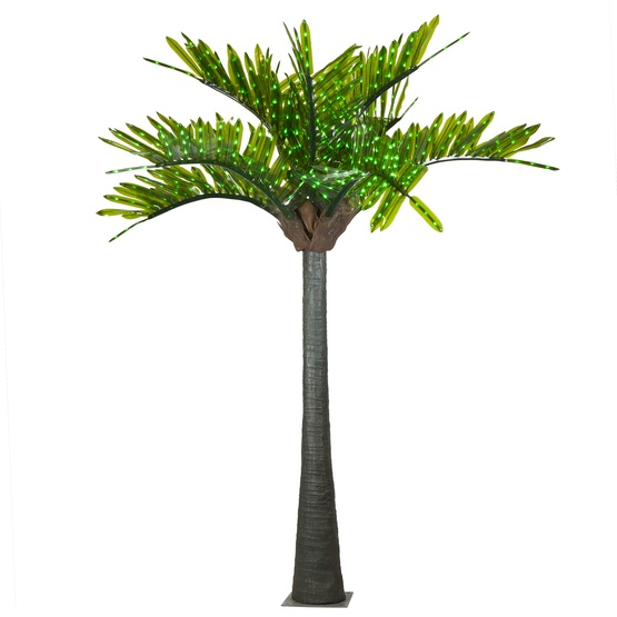 16' LED Palm Tree - Natural Green