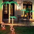 7' Lighted Palm Tree