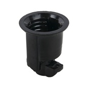 Phenolic Socket - No Hook - Medium Base, Black