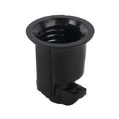 Phenolic Socket - No Hook - Medium Base, Black