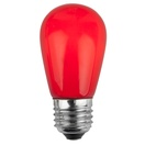 S14 Opaque Red, 11 Watt Replacement Bulbs